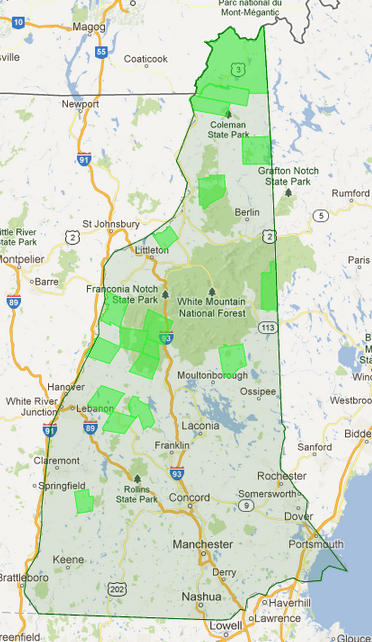 New Hampshire Towns with No Comprehensive Zoning