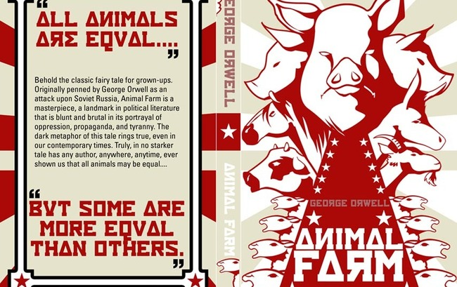 all animals are equal So i think it was a great book, i really recommend it to you all i was especially  happy when i found the quote in the title  all animals are equal.