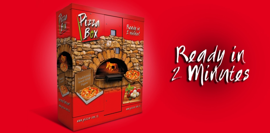 Pizza Box - automatic pizza preparation and delivery.