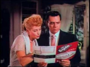 Lucille Ball & Desi Arnaz in The Long, Long Trailer
