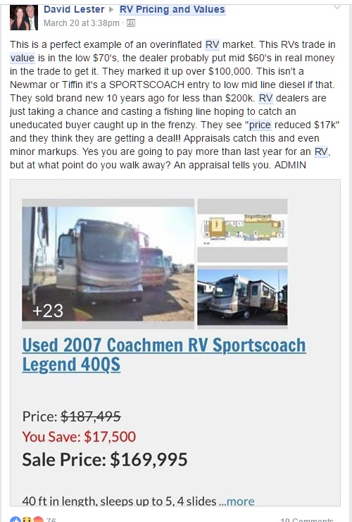 RV Pricing Ripoff