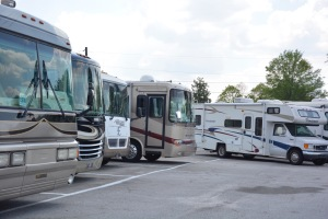 Waiting in the queue at Integrity RV Service Center