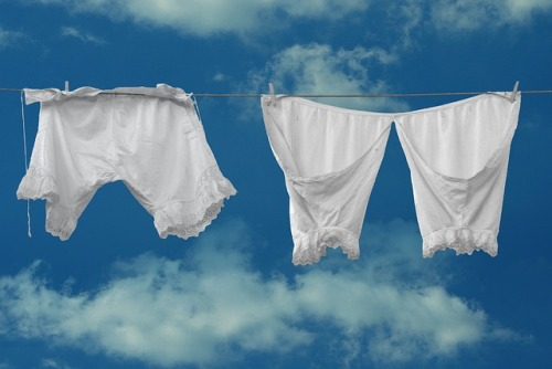 Vintage Undies on a Clothesline