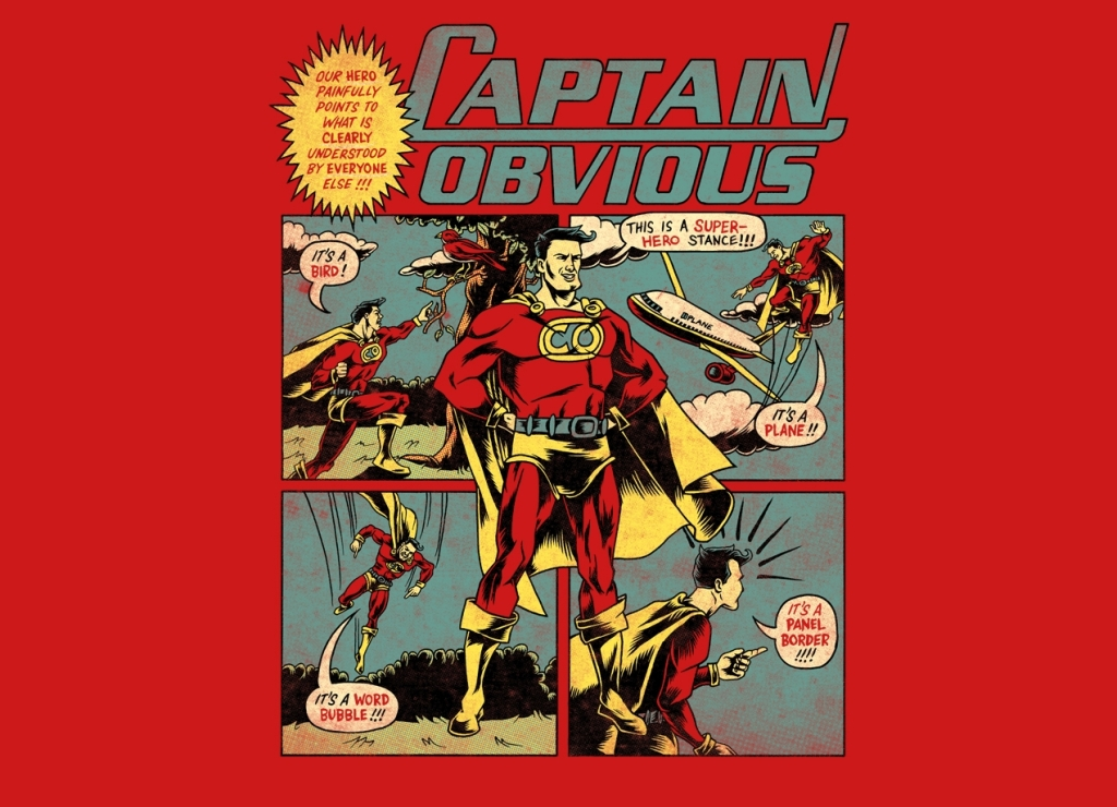 Captain Obvious T-Shirt Design